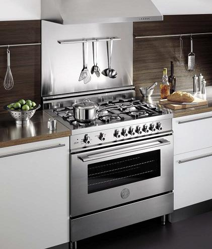 36 Inch Stainless Steel Pro Series Range From Bertazzoni
